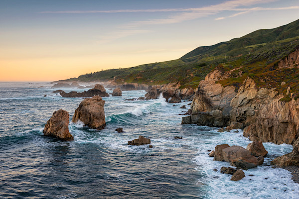 Sunrise Big Sur Photographs. Central Coast Wall Art Decor.