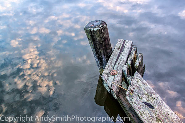 Reflection at an Old Dock fine art photograph
