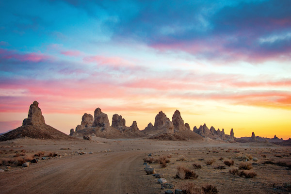 Trona Pinnacles Sunset Photographs Art Decor.