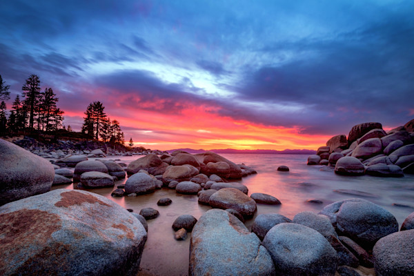 Tahoe Sunset Photographs Wall Art Decor.