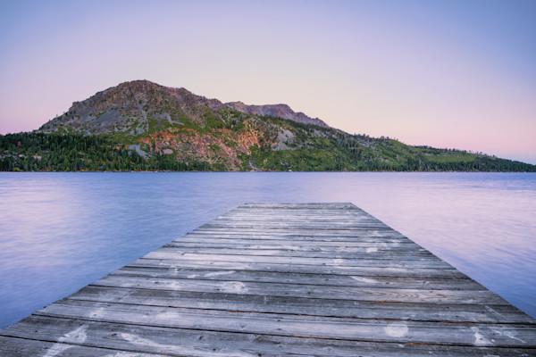 California Lake Sunrise Photographs Pier Art.