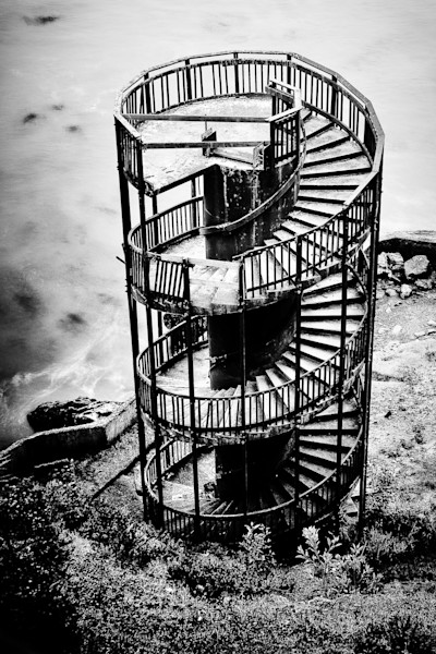 Pismo Beach Photographs Black and White Staircase Art.