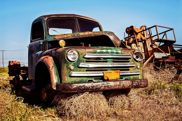 Old Dodge Pick up Truck Wall Art Photographs.