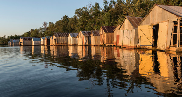 Stuntz Bay Boathouses along Lake Vermilion
