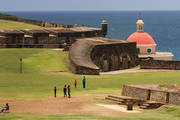 Fine Art Photograph of a Military Fort in San Juan by Michael Pucciarelli