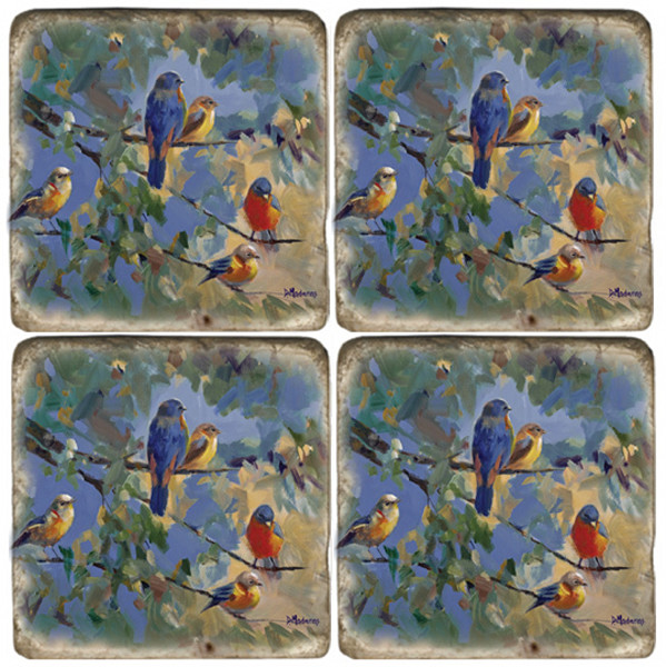 Five Birds Coaster Set