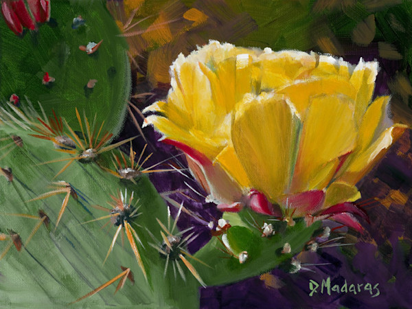 Prickly Pear Bloom Mini Canvas