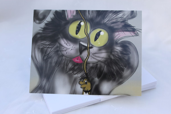 Miles the Cat Funny Notecards