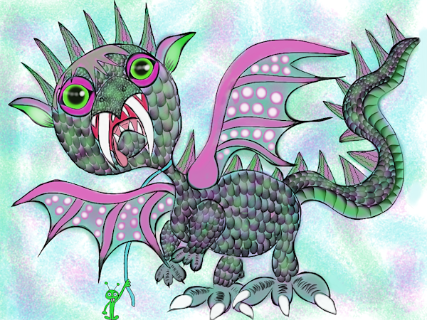 Chickaterrus Dragon And Raymond Fine Art Print