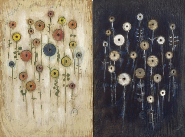 Flower themed contemplative art and paintings by Mike Kline for sale.