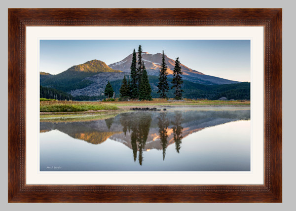 South Sister Sunrise (151242LND8) Framed Fine Art Paper Photograph for Sale