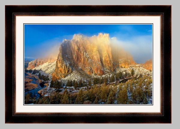 Fog Burn (141019LND8) Framed Fine Art Paper Photograph for Sale