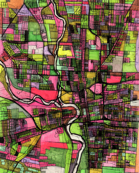 Interior design- decorate your home with art maps of Columbus OH