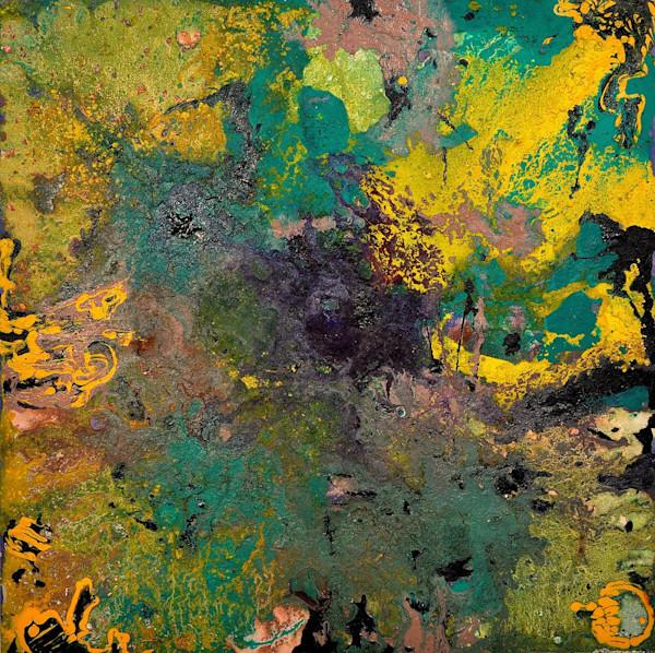 Abstract Volcano Art