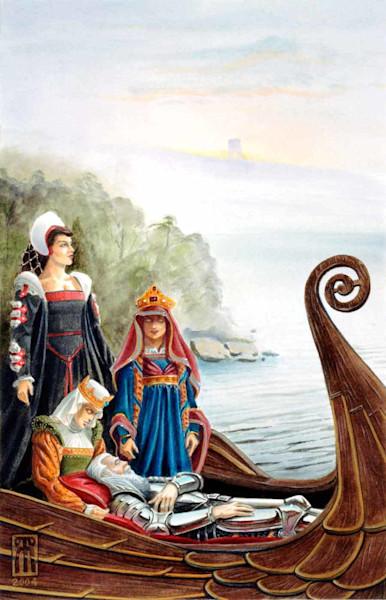 The Isle of Avalon - Original art