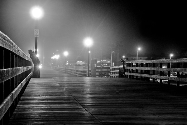 Seal Beach Pier Night Photographs Art Decor.