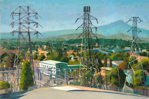 Towers, El Cerrito, landscape, painting, art