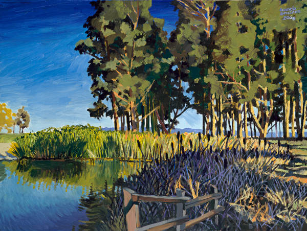 pinole, landscape, painting, art, pond