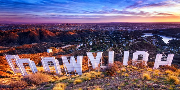 Hollywood Sign Los Angeles Landscape Photographs. California Wall Art Decor.