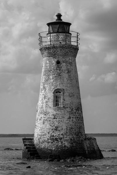 Cockspur Island Lighthouse 2 B&W
