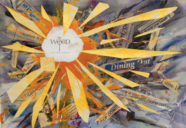 Mixed Media of Collage and Watercolor by Judy Johnsom At Prophetics Gallery