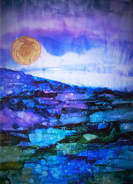Alcohol Ink Painting by June Corstorphine at Prophetics Gallery