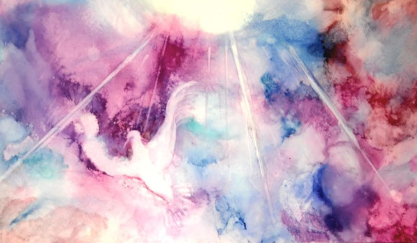 Alcohol Ink Paintings by June Corstorphine at Prophetics Gallery