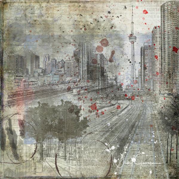 Spattered Skyline Cityscape | Nicky Jameson