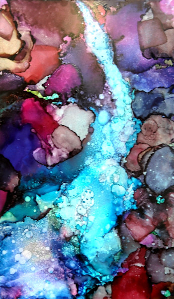 Alcohol Ink Art by June Corstorphine at Prophetics Gallery