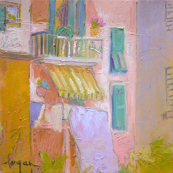 The Awning | Original Mixed Media Painting by Fagan