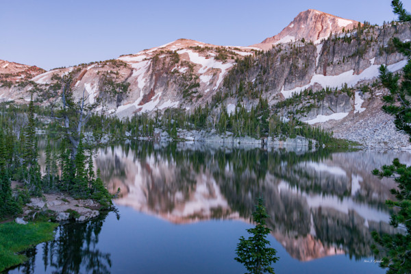 Eagle Cap Mirror Lake (161515LNND8) Photograph for Sale as Fine Art Print