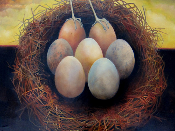 Egg Forms with Bird
