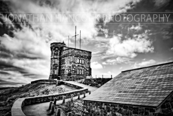 Newfoundland Photography - Cabot Tower BW