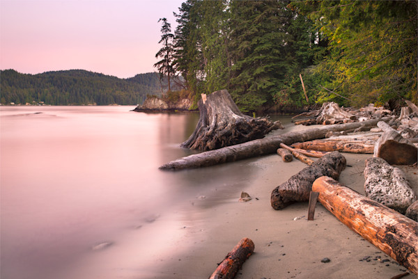 After the Sunset on Soames Point Beach, Gibsons