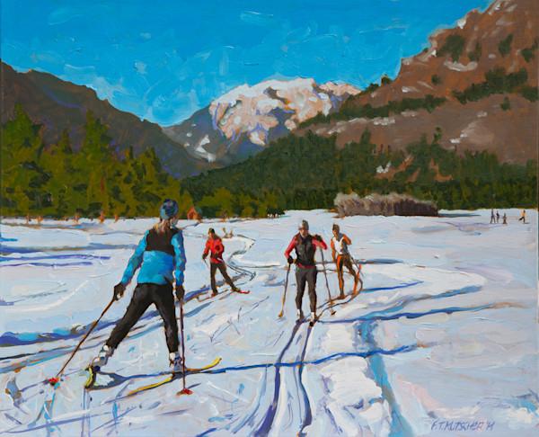 Kutscher- Skiers on Methow Valley Trails