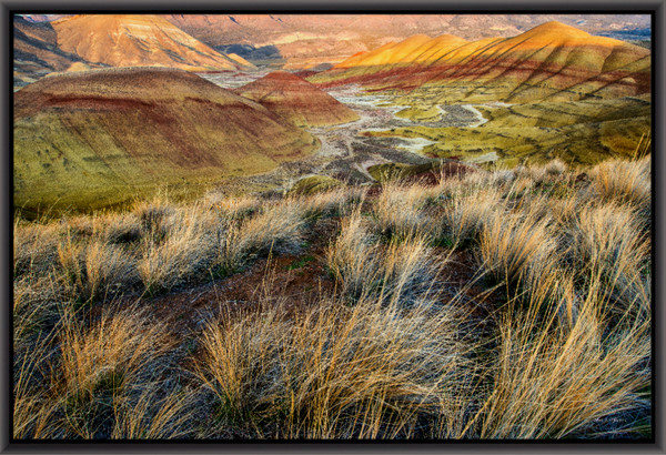 Painted Hills II (131161LND8) Photograph for Sale as Metal Fine Art Print
