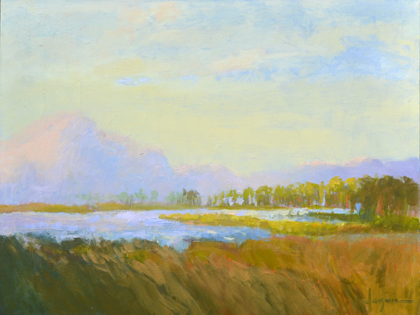 Inlet | Sunrise Cloud Painting by Dorothy Fagan