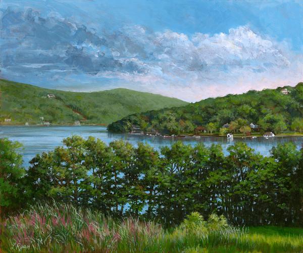 Lake Waramaug from Hopkins Inn's Porch