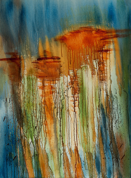 Freedom of Movement original contemporary abstract painting by Jana Kappeler.