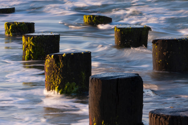Beach Wall Art: Timbers in the Surf