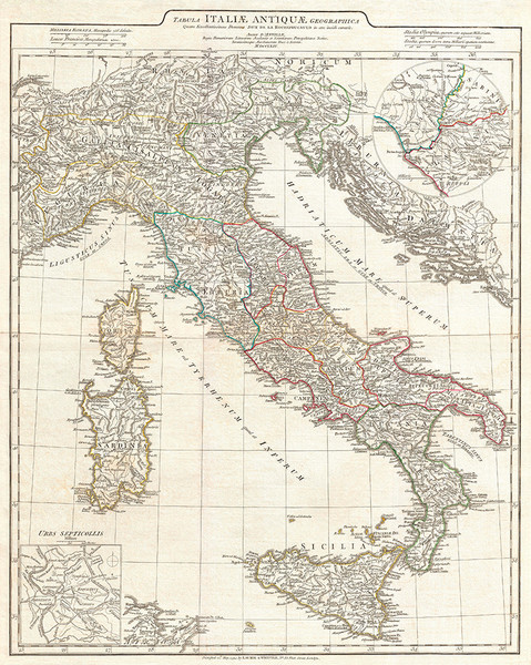 D'Anville 1764 Map of Italy