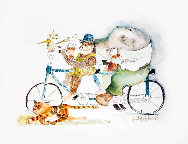 Animals Riding a Bike