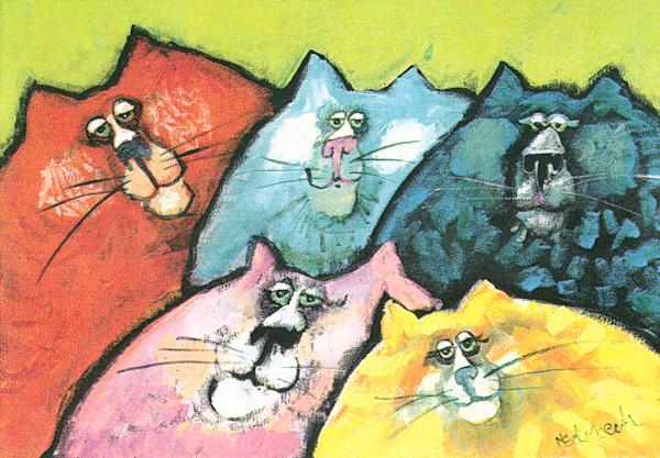 Cat Art  by Nedobeck Online Art Gallery