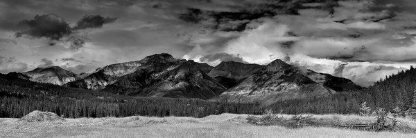 Thunder Storms break at the Palliser Range
