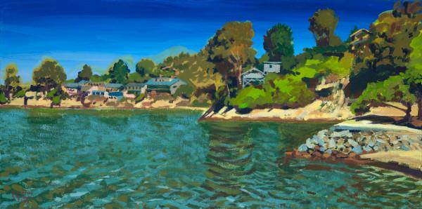 landscape, painting, keller, Point Richmond, art
