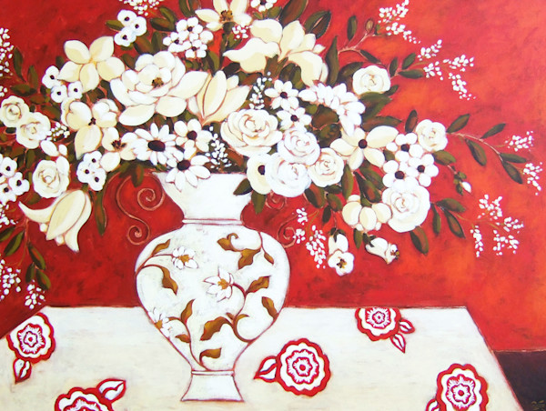 Red and White Still Life