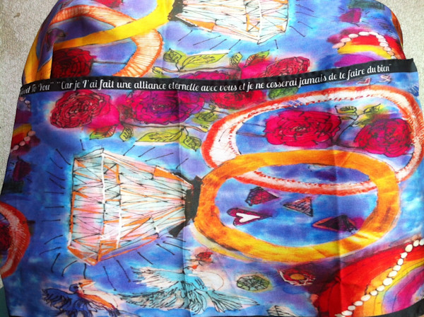 """Everlasting Covenant""  Handkerchief by Cydney Mariel Galbraith  |  Prophetics Gallery"