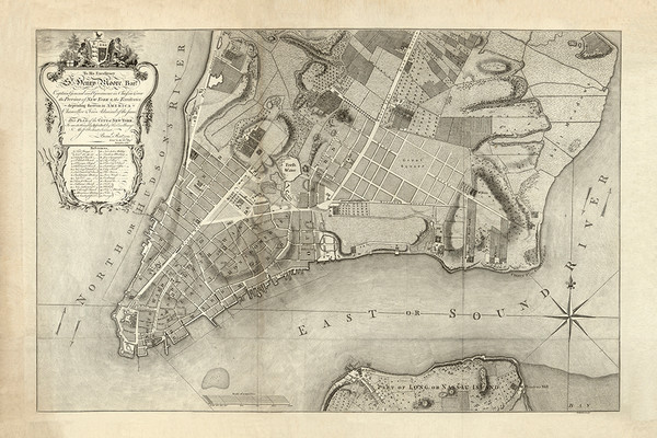 The Plan of the City of New York, 1767