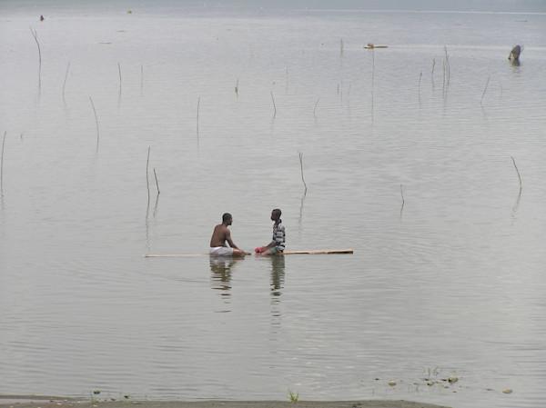 Visiting Fishermen in Ghana