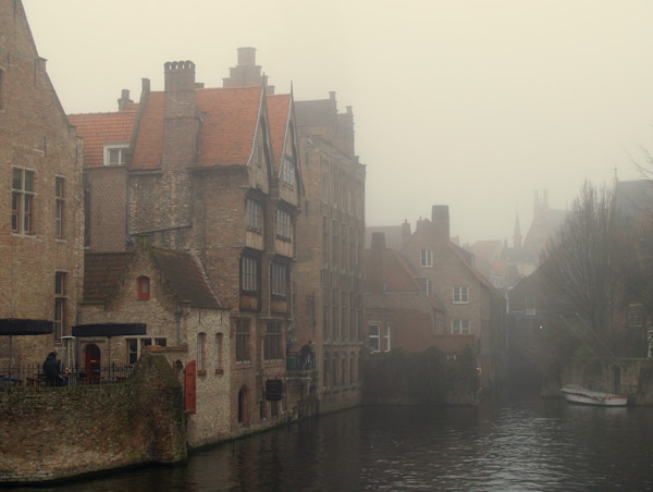 Foggy day in Belgium
